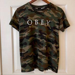 OBEY Logo Camo Tshirt
